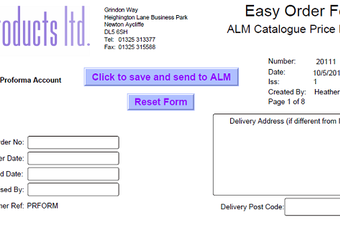 How can I order cubicle hardware from ALM Products using the online Easy Order Forms?